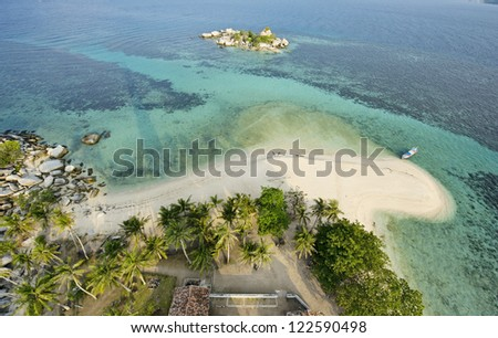 Belitung's beach - the view upon the lighthouse