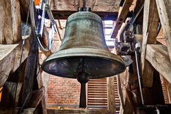 Bell, bell tower, church bell, HDR
