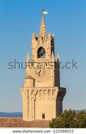 Bell / Clock tower in Avignon, Provence, France