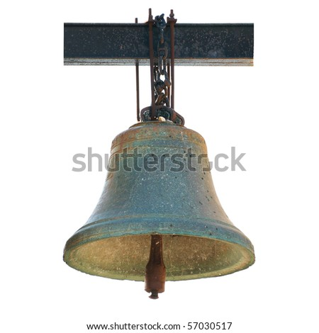 Bell from Notre Dame de Paris isolated on white. Now situated in Chersonese, Ukraine.