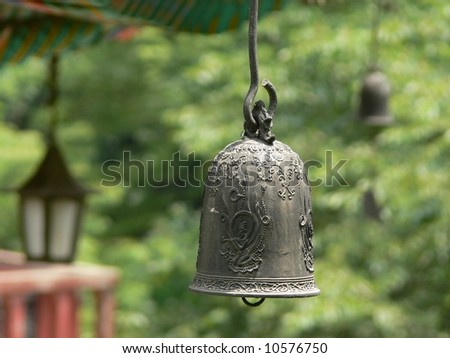 Bell in the buddhist temple, Seoul, South Korea