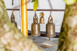 Bell made of brass in buddhist temple