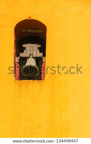bell tower in the yellow...