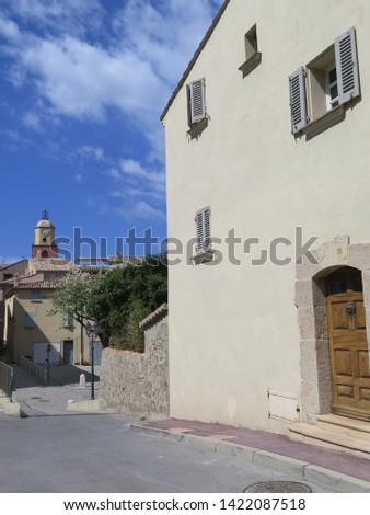 bell tower Notre Dame de l Assomption Saint Tropez French Riviera Cote d Azur France April