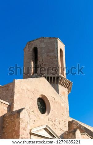 Bell tower of St. Laurent Church, Marseille, Bouches-de-Rhone, Provence-Alpes-Cote-d'Azur, France.