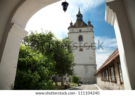 Bell Tower of the Armenian church   in Kamianets-Podilskyi, West Ukraine