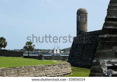 Bell Tower & Sail Boat at Castillo de San Marcos