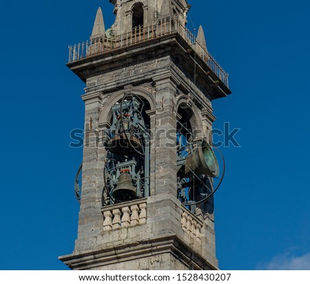 Bell tower with bell ringing