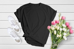 Bella Canvas Bundle Unisex 3001T-shirt Mockup, 15 High Quality Mockup Bundle On Wooden Background, 15 colors , Tshirt mockup, commercial use