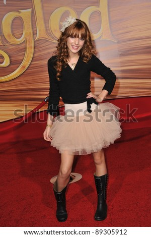 "Bella Thorne at the world premiere of ""Tangled"" at the El Capitan Theatre, Hollywood. November 14, 2010  Los Angeles, CA Picture: Paul Smith / Featureflash"