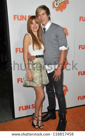"""Bella Thorne & boyfriend Tristan Klier at the Los Angeles premiere of her new movie """"Fun Size"""" at the Paramount Theatre, Hollywood. October 25, 2012  Los Angeles, CA Picture: Paul Smith"""