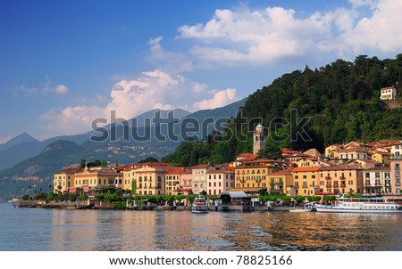 Bellagio peninsula seen from Lake Como