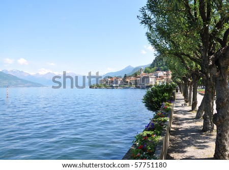 Bellagio town at the famous Italian lake Como