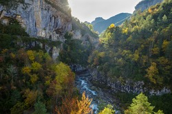Bellos river in Añisclo Gorge, Ordesa and Monte Perdido National Park, Huesca province, Spain