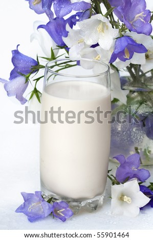 bells and milk in a glass
