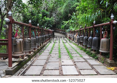 Bells at temples in northern Thailand