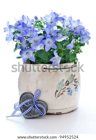 bells in a flower pot for Valentine's Day