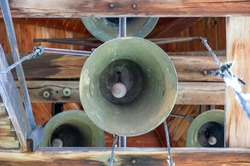 bells in an old bell tower
