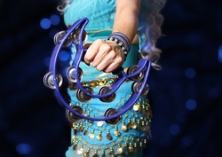 Belly Dancer Close-up With Tambourine