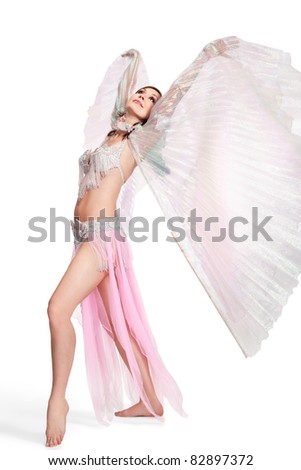 Belly Dancer wearing a white costume