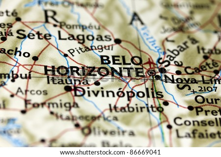 Belo Horizonte in Brazil on the Map.