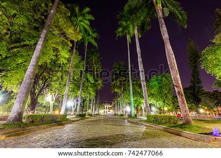 Belo Horizonte, Minas Gerais, Brazil. View of Liberty Square #742477066