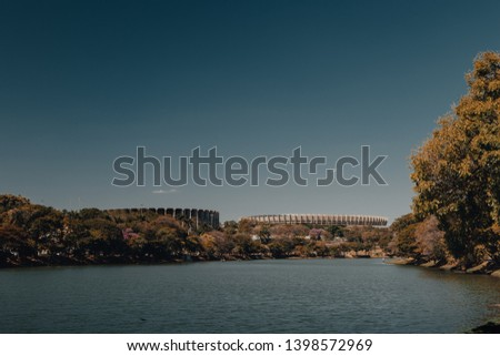Belo Horizonte, Minas Gerais, Brazil. View of Pampulha Lake during the day.