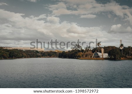 Belo Horizonte, Minas Gerais, Brazil. View of Pampulha Lake during the day. #1398572972