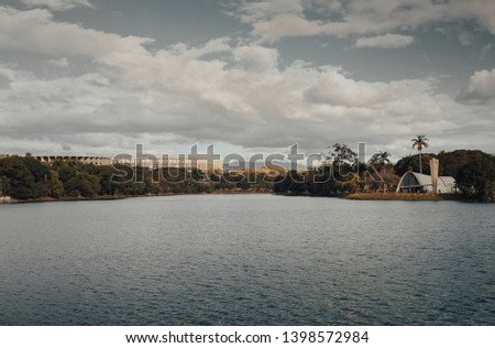 Belo Horizonte, Minas Gerais, Brazil. View of Pampulha Lake during the day. #1398572984