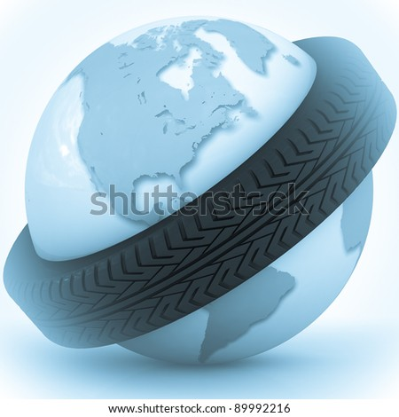 belt from a tire will give on a globe