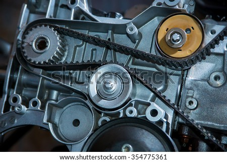 Belt in a motor vehicle stock photo