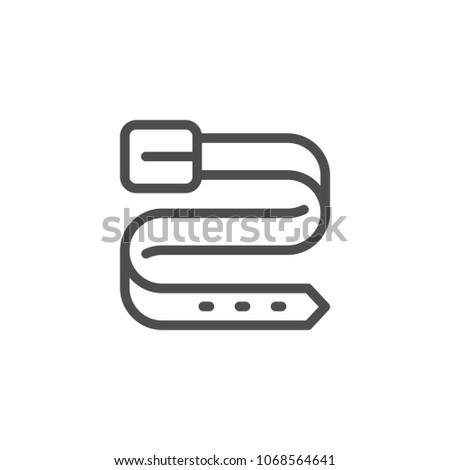 Belt line icon isolated on white