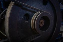 belting gear of the vintage mechanism
