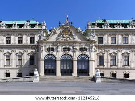 Belvedere Palace Facade, Vienna, Austria.
