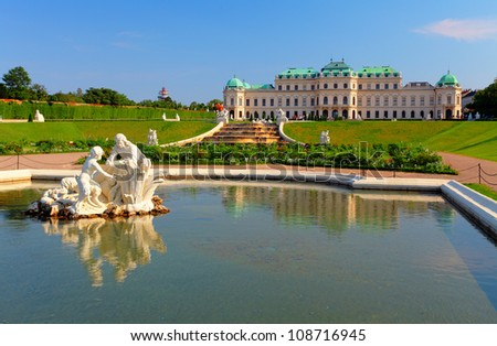 Belvedere Palace in Vienna - Austria