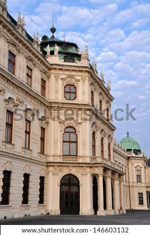 Belvedere Palace in Vienna, Austria.