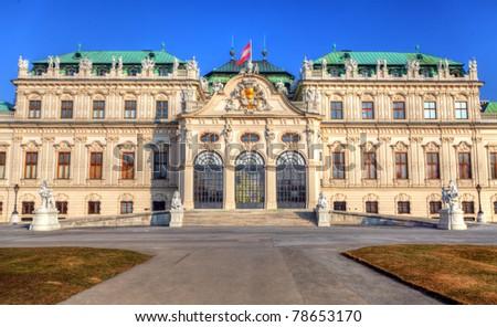 Belvedere palace Vienna Austria Stock foto ©