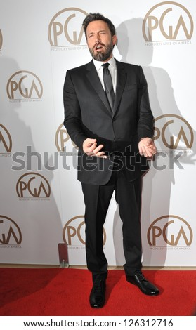 Ben Affleck at the 2013 Producers Guild Awards at the Beverly Hilton Hotel. January 26, 2013  Los Angeles, CA Picture: Paul Smith