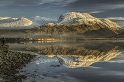 Ben Nevis from Corpach Sea Port in Scotland