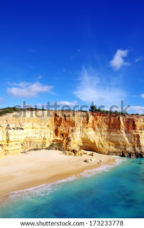 Benagil beach on atlantic coast, Algarve, Portugal