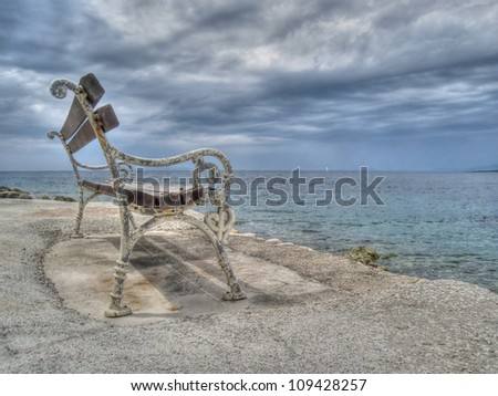 bench at the sea 5