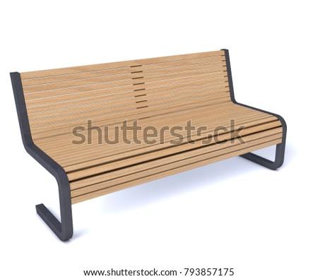 """Bench Easy """"3D rendering"""" #793857175"""