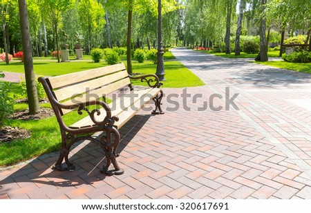 Stock Photo Bench in the local park