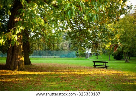 Bench in the park - Shutterstock ID 325330187