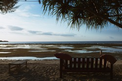 Bench on the beach in Gili Air