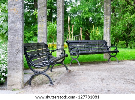 bench  to rest in a beautiful park