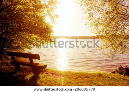 bench with view in the evening...