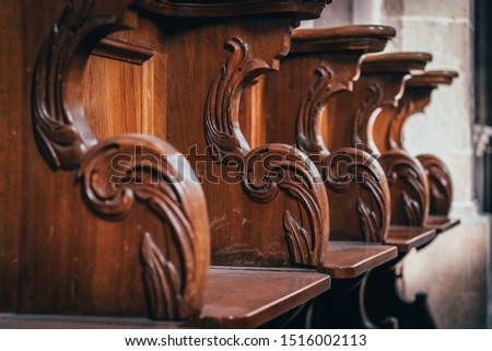 Benches in the catholic church #1516002113