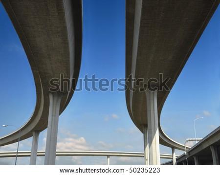 Beneath a Los Angeles freeway.