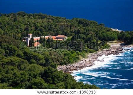 Benedictine Monastery on the Croatian island of Lokrum